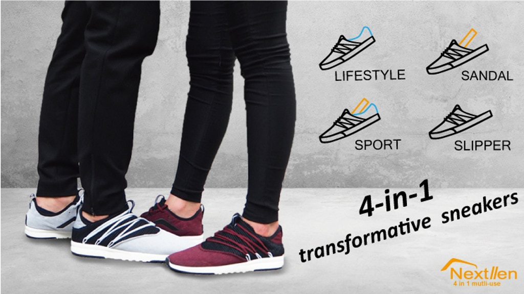 Nextllen: 4-in-1 transformative sneakers
