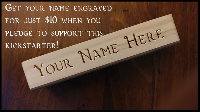 Personalize your dice stick with your own custom engraving!