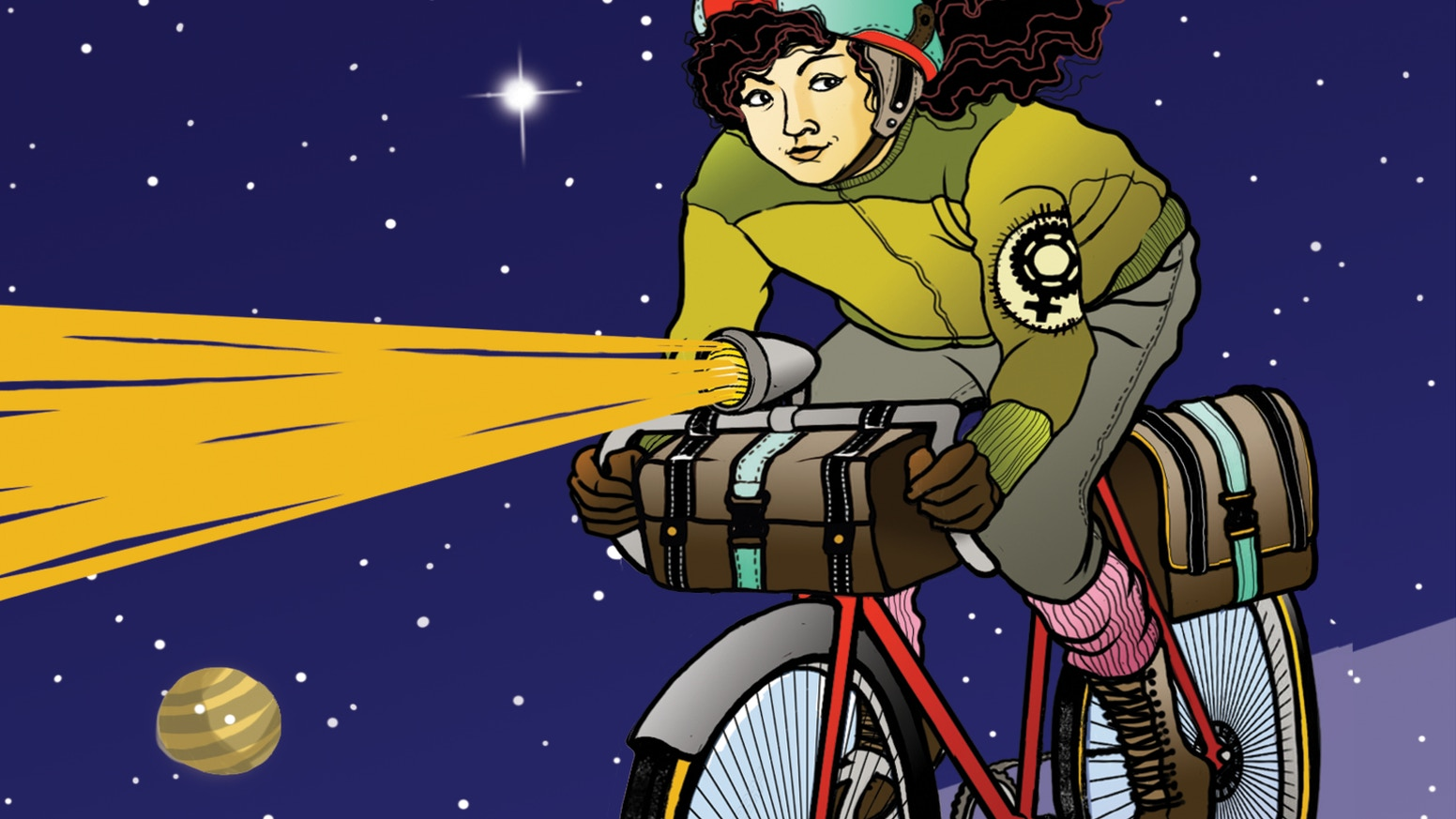 Diverse stories exploring pedal-powered visions of humanity's race to the stars... or just to survive.