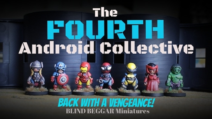 32mm tall white metal Android miniatures for painters, tabletop gamers and collectors alike. Missed the KS? It is not too late, send me a message!