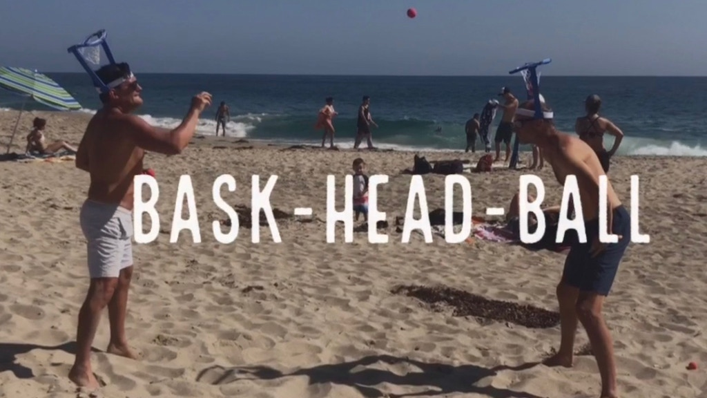 bask HEAD ball: Hilarious Foam Basketball Party Game