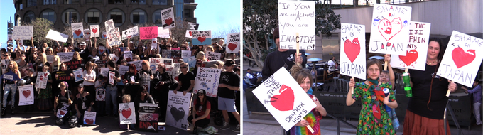 Protest against Taiji's dolphin hunting in LA