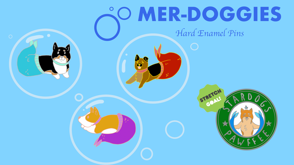 Project image for Mer-Doggies Hard Enamel Pins