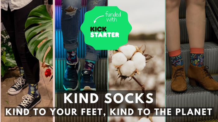 Sustainable socks using GOTS organic cotton that is pure. No pesticides. No toxic chemicals.