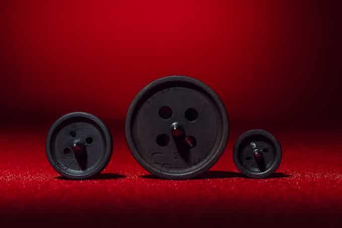 The world's first iron mechanical buttons.