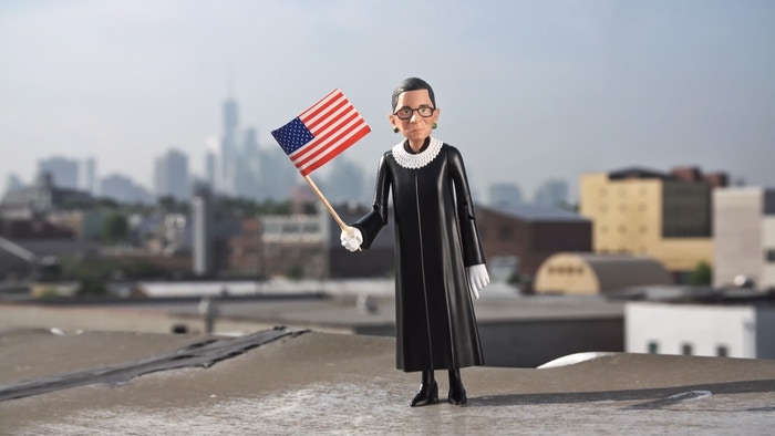 Thanks to YOU, we're turning RBG into an iconic Action Figure!