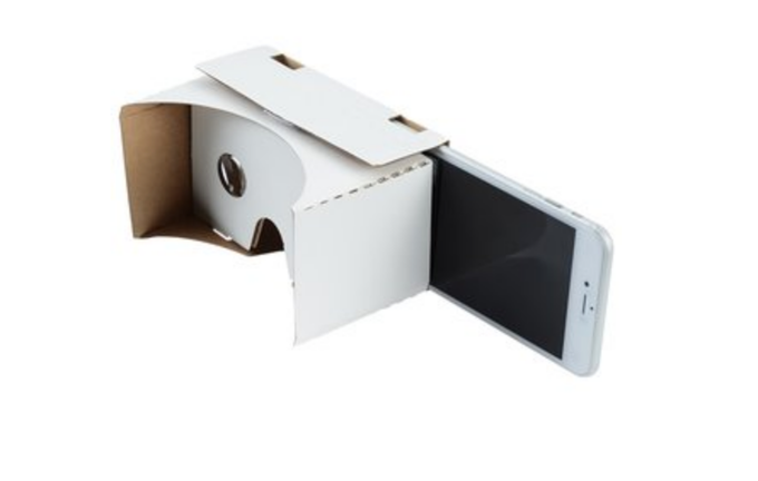 Cardboard viewer (will be Hydrous branded) to view 360º content from your smart phone