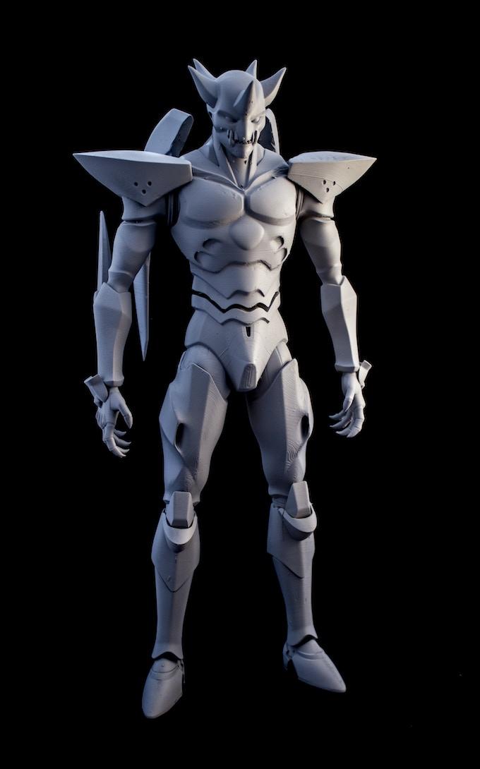 Actual photo of prototype statue