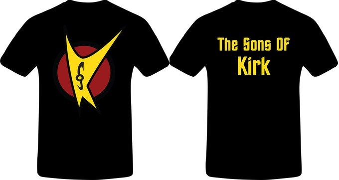 The Sons of Kirk official T-shirt, front and back