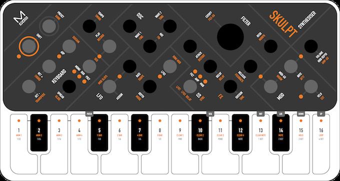 Sticker Design 1 - Full Colour Modal SKULPTsynthesiser