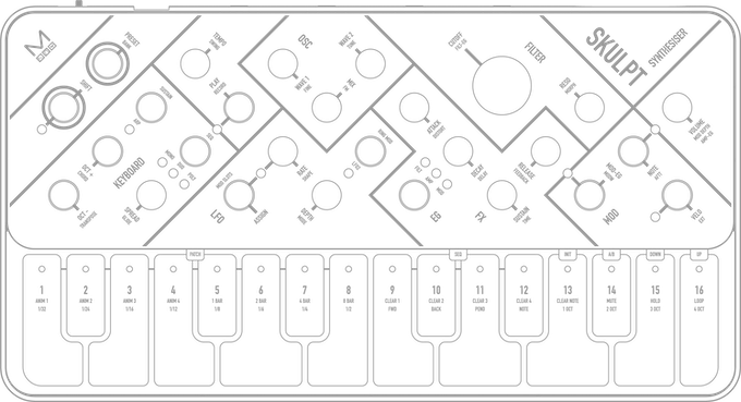 Sticker Design 2 - Outline Modal SKULPTsynthesiser
