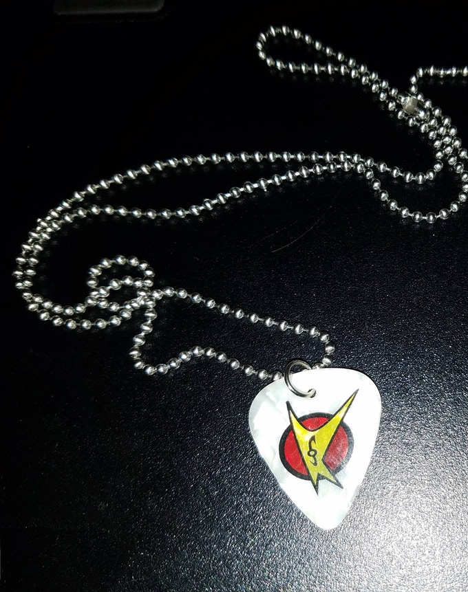 Guitar picks make great necklaces and chains!