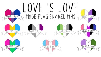 Love is Love Pride Flag Enamel Pins