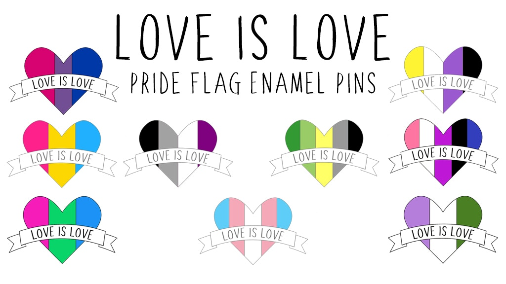 Love is Love Pride Flag Enamel Pins