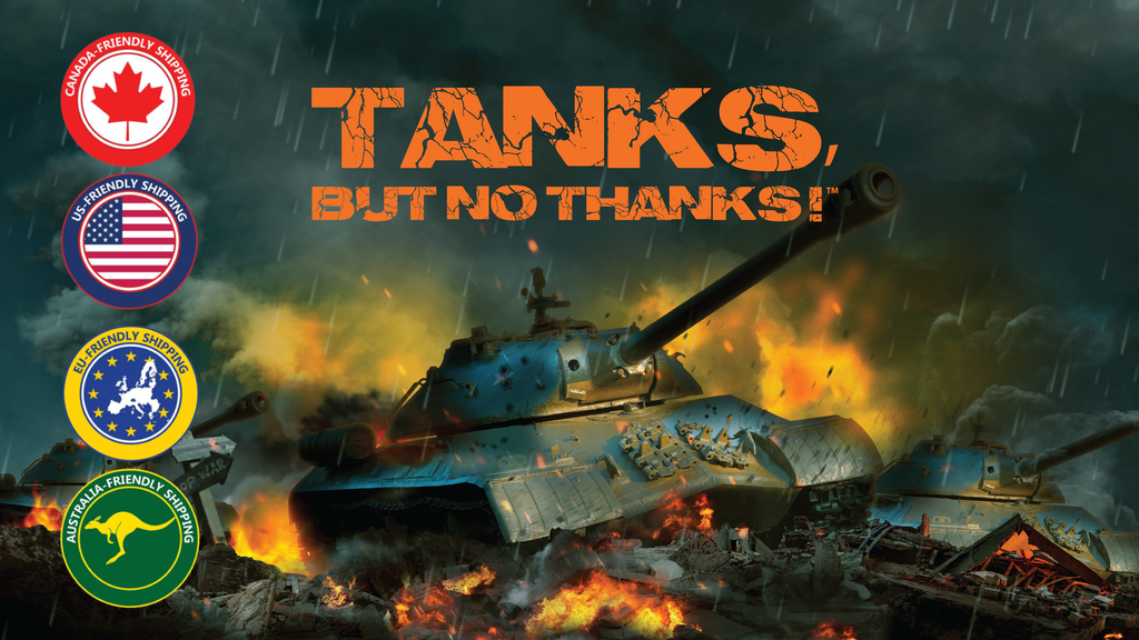 TANKS, BUT NO THANKS! Strategy board game | 2-4 players | 8+ project video thumbnail