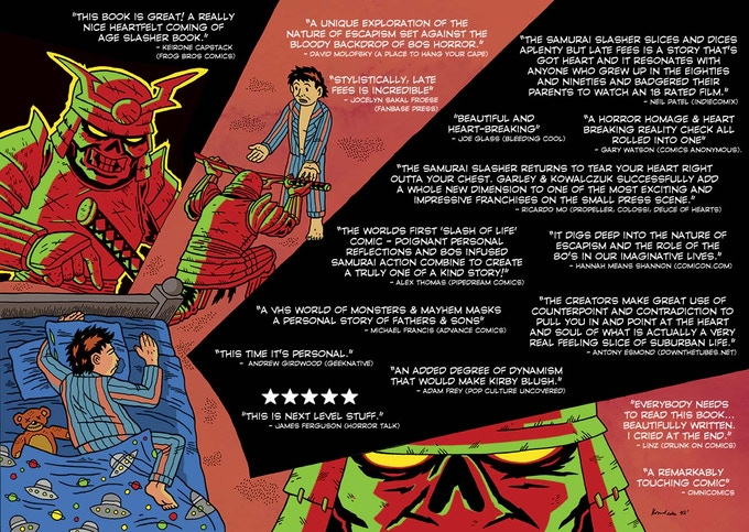 Reviews for the Samurai Slasher one-shot - Late Fees - which is only available as a physical comic.
