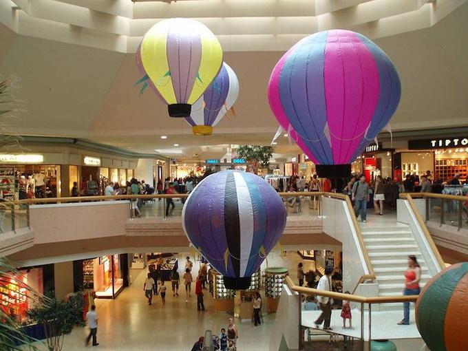 The original hot air balloon installation