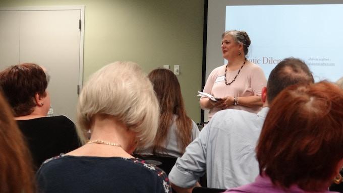 Kathryn leading a workshop