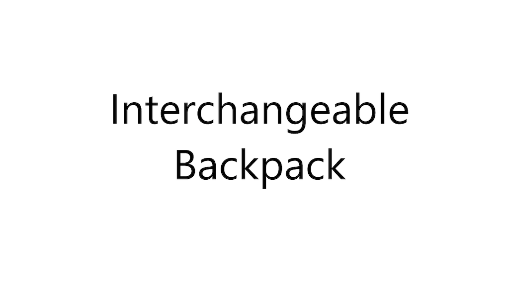 Project image for Interchangeable Backpack (Canceled)