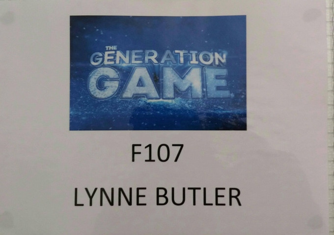 My dressing room as standby performer on The Generation Game