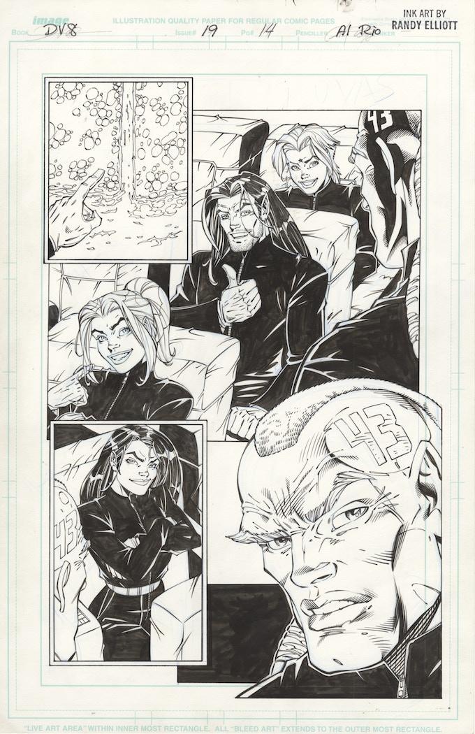 DV8 #19 page 14, Original Page Art, Image Comics
