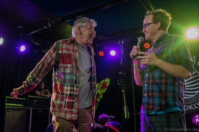 Chris Gethard and Peter Stampfel at label showcase