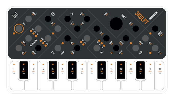 Piano style capacitive touch keys - THE ONE!