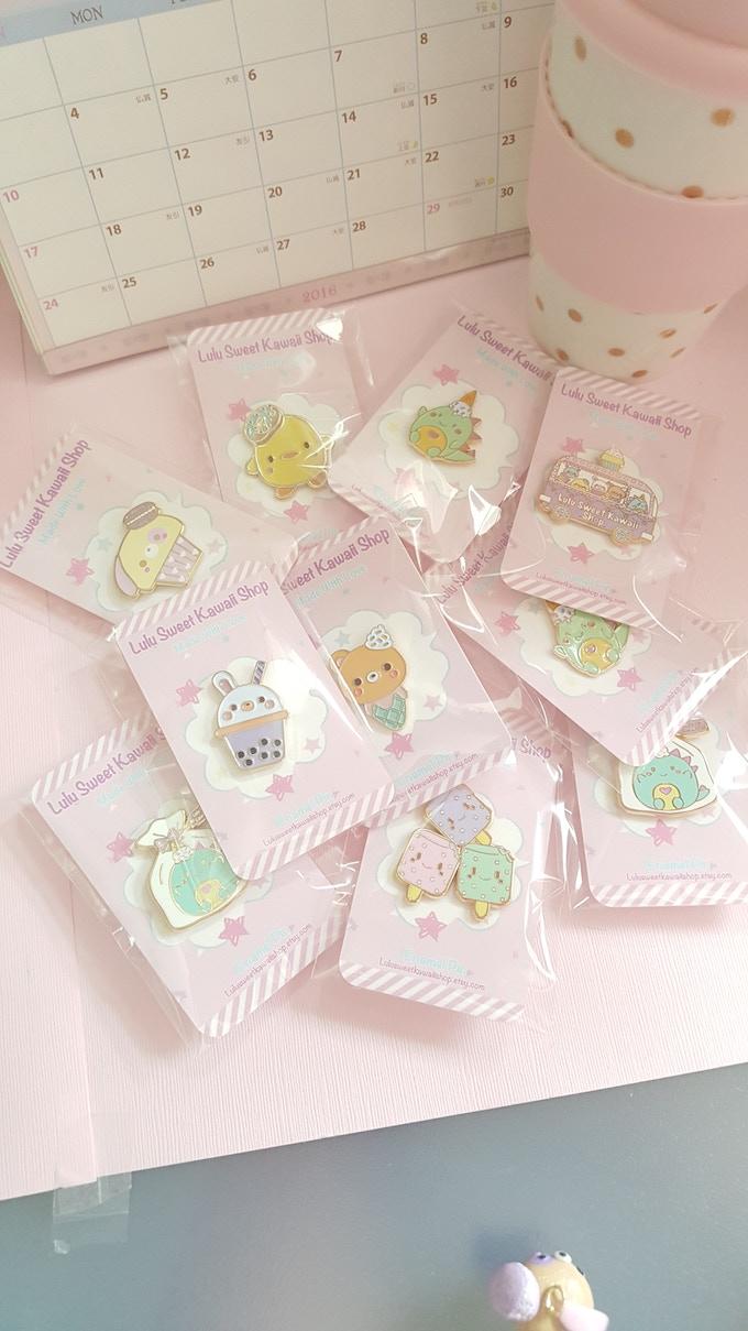6022945dbae4 Lulu Sweet Kawaii Shop Toy Claw Machine Enamel Pin by Lulu Sweet ...