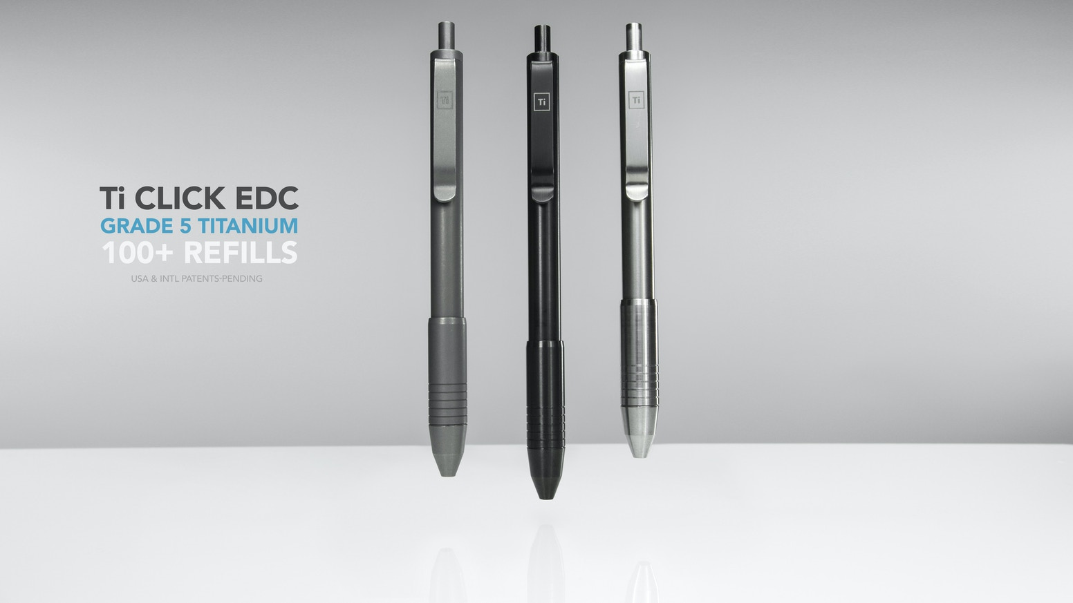 World's 1st click pen to accept 100+ refills w/o any hacks, spacers, or guesswork. All metal, no plastic + FREE world-wide shipping!!