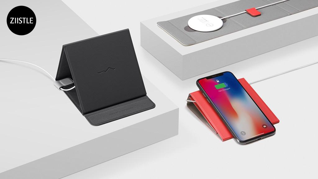 ZIISTLE: Ergonomic Modular Qi Wireless Charging Kit