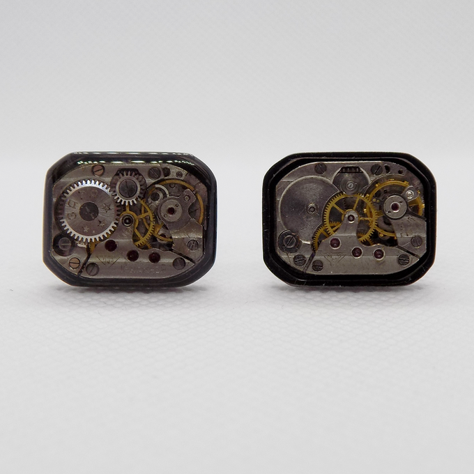 Resin coated movement on the left - unprotected damaged movement on the right