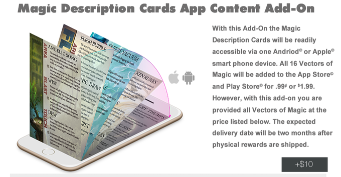 Magic Description Cards will be added to the existing App. This add-on give you access.