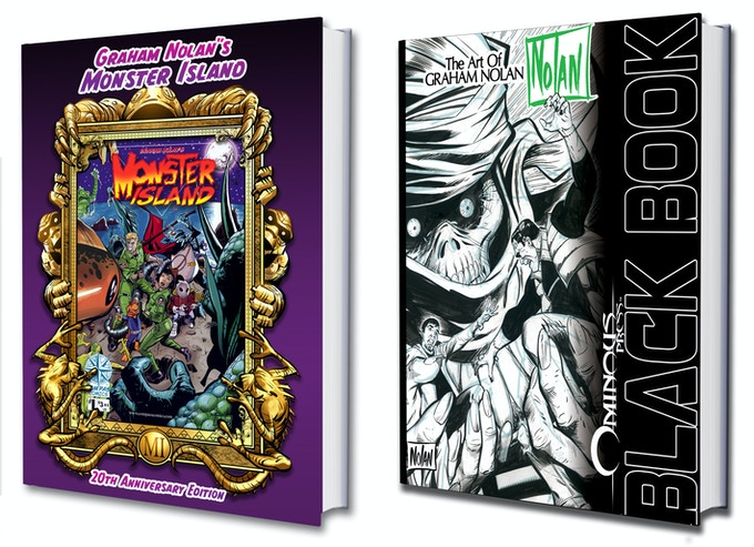 MONSTER ISLAND 20th Anniversary Edition and Black Book: The Art of GRAHAM NOLAN