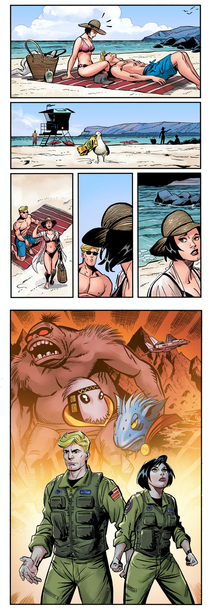 RETURN to MONSTER ISLAND preview in full-color!