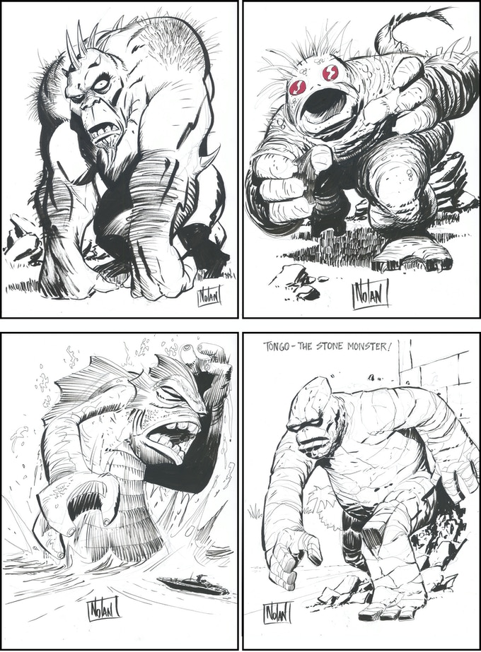 Graham Nolan Monster Drawing examples.