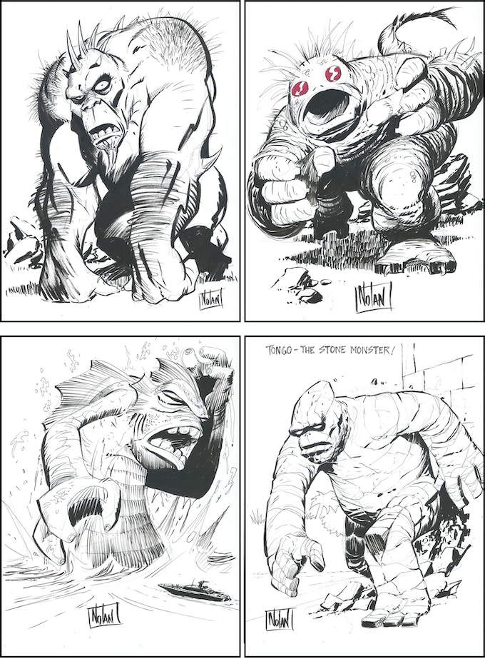Graham Nolan Monster Drawing examples.