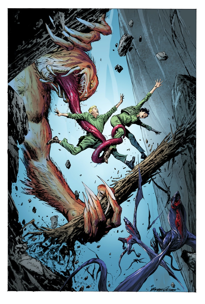 Monster Island Pin-Up by Butch Guice with Nanjan Jamberi.