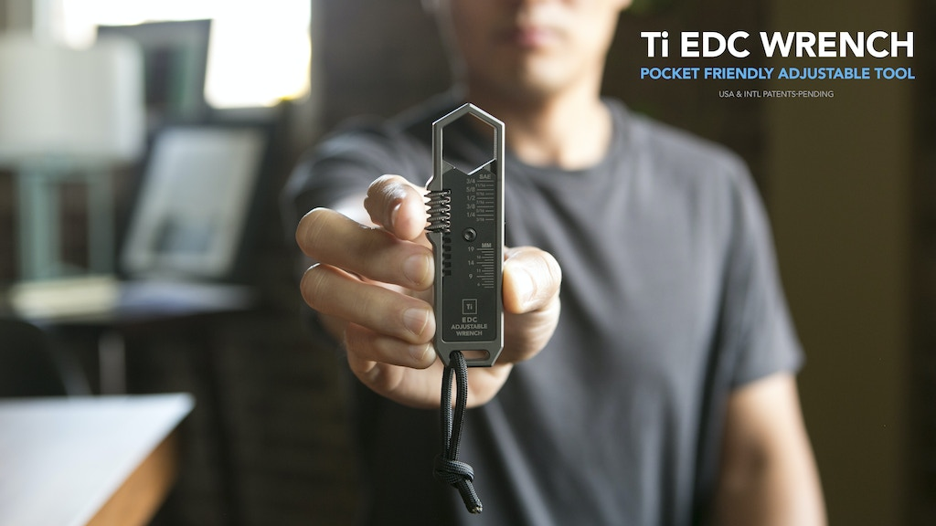 Ti EDC Wrench : Adjustable Pocket Tool for Everyday Carry project video thumbnail