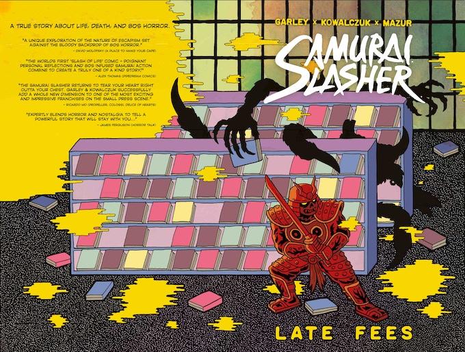 The wraparound cover for Samurai Slasher Late Fees - art by Lukasz Kowalczuk