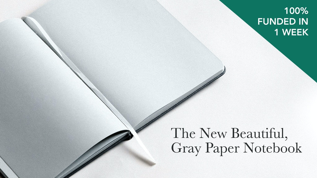 Alabaster Notebook: A New Beautiful, Gray Paper Notebook project video thumbnail