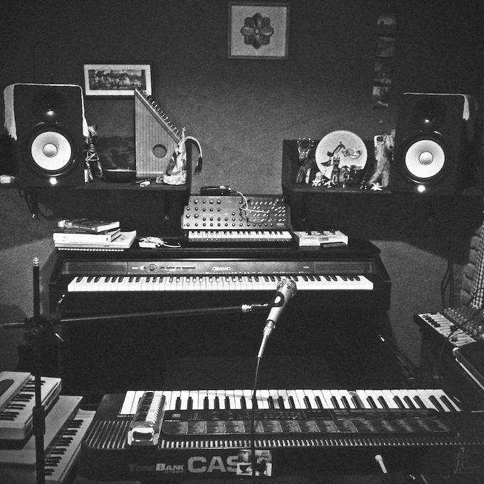 mi cuarto/estudio donde fue grabado el nuevo álbum