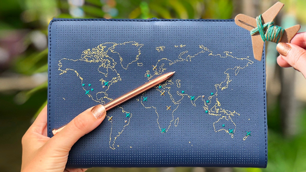 The first 'Stitch where you've been' Leather Travel Notebook project video thumbnail