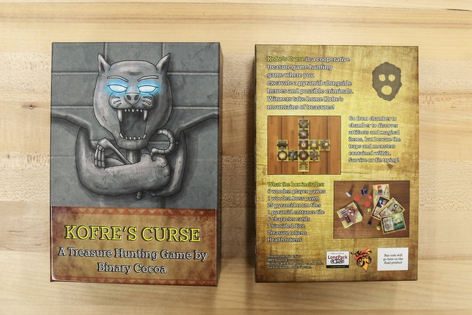 The front and back of the box