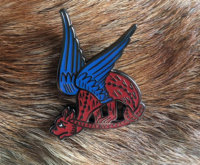 Knot a Dragon Sample Pin