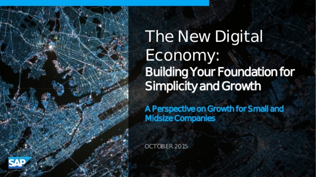 The New Economy. Fundamentals of The New Economy