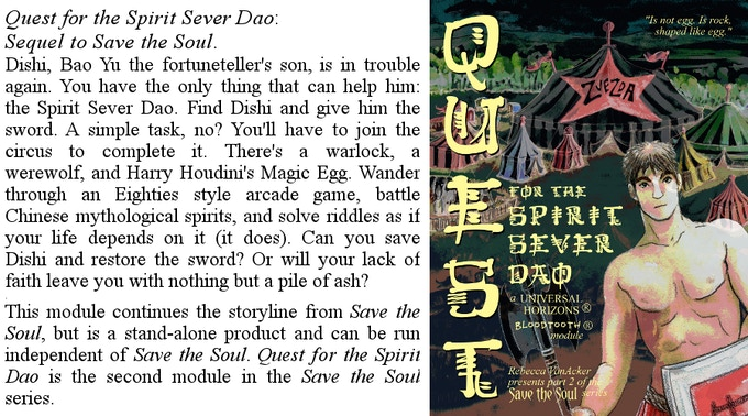 Quest for the Spirit Sever Dao, a Bloodtooth module