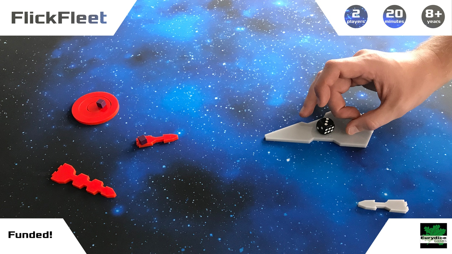 Victory lies at your fingertips in this fun space battle. Flick your ships into action, then fire dice at your enemies to destroy them.