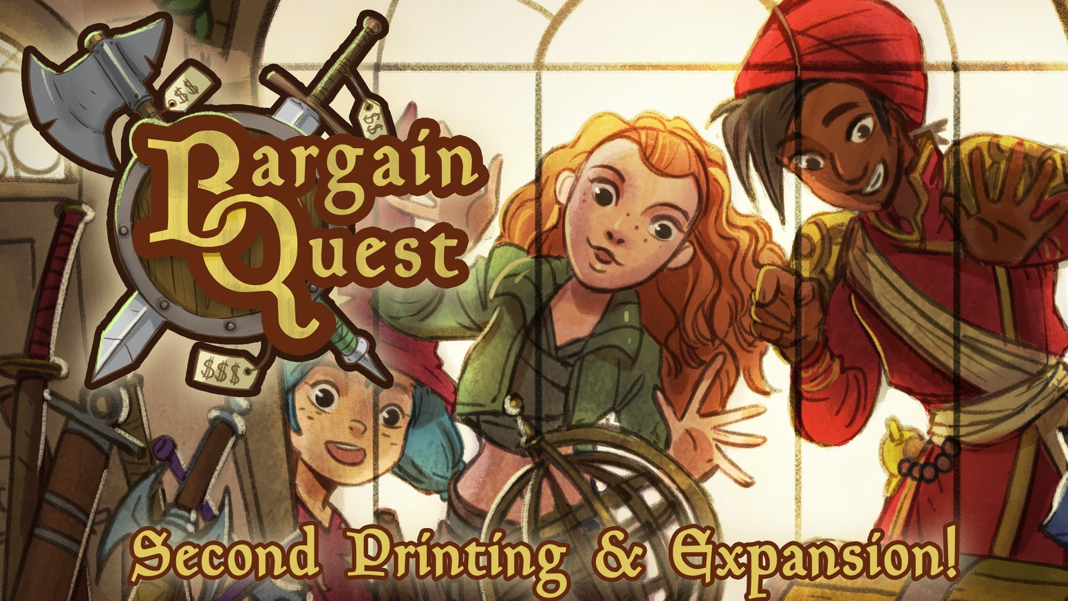 The second printing and a new expansion for the acclaimed Item Shop Board Game Bargain Quest!