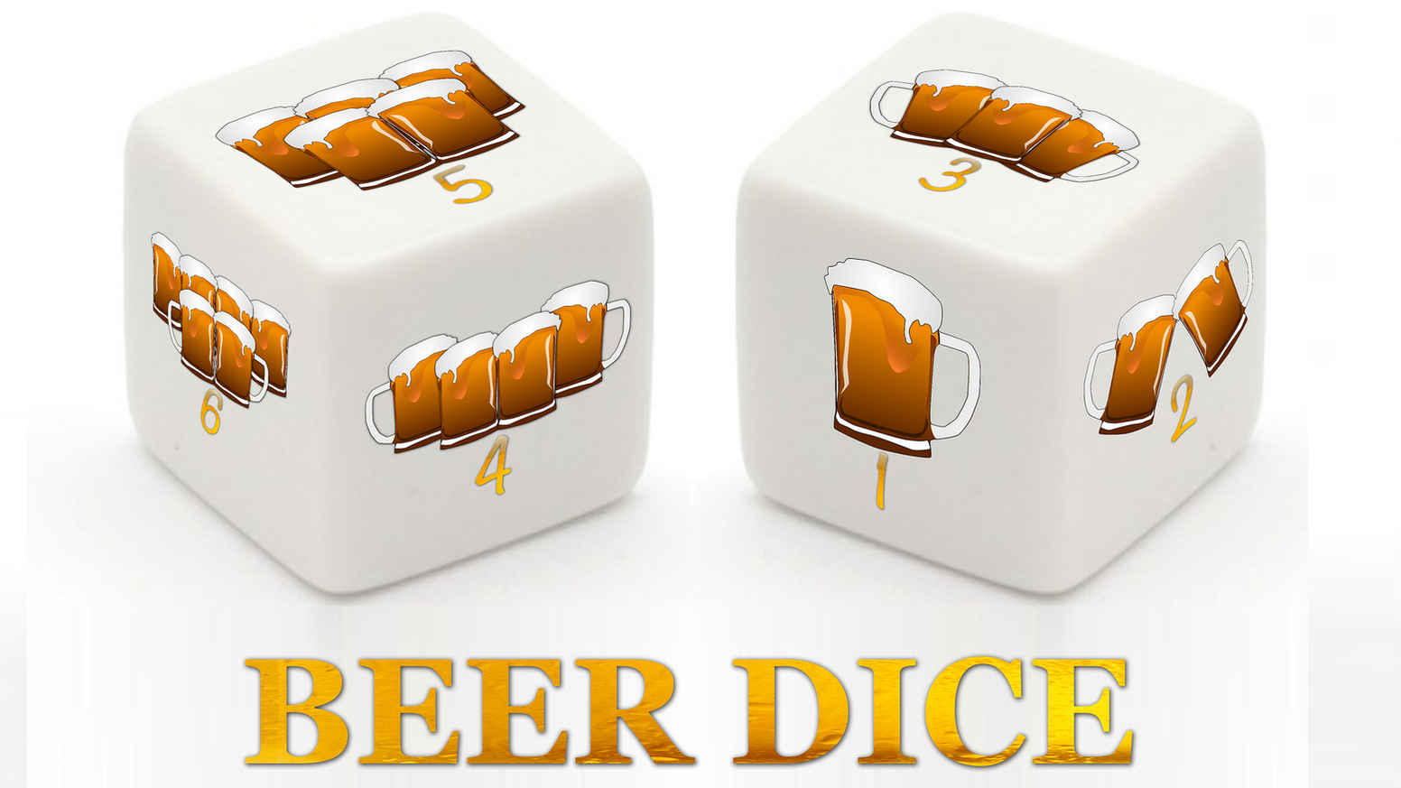 Beer Dice, the perfect die for drinking games or just for collectors!