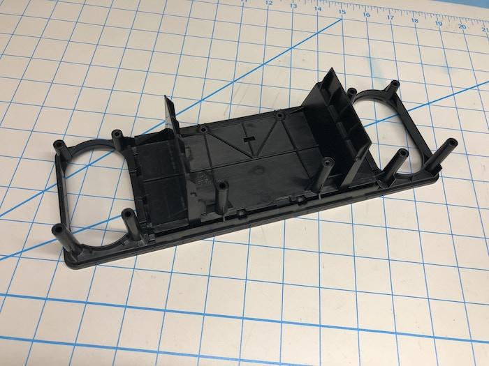 Back of the speaker frame